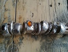 """""""one-off""""silver hand crafted silver rings set with a variety of semi-precious stones."""