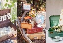 42+ Adorable Vintage Suitcases Wedding Ideas Chic Wedding, Wedding Trends, Rustic Wedding, Wedding Ideas, Vintage Suitcase Wedding, Vintage Suitcases, Barn Wedding Lighting, Vintage Travel Themes, Roof Shapes