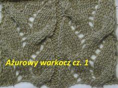 Ażurowy warkocz*Robótki  na drutach *Wzory0018 Dzierganie dla początkują...