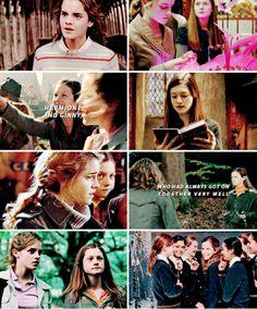 hermione & ginny - harry potter