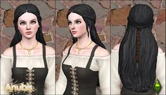 My Sims 3 Blog: The Sims Medieval Aristocrat Long Braid Hair ~ Converted for Teen-To-Elder by Anubis360