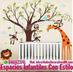 vinilos-infantiles-animales-de-selva  http://comoorganizarlacasa.com/vinilos-decorativos-infantiles/ Vinilos Decorativos Infantiles #vinilosdecorativos #IdeasParaOrganizar #IdeasDeDecoracion