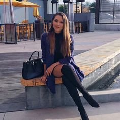 Back in the bay and it's been raining pretty much everyday Jessica Ricks Jessica Ricks, Hapa Time, Non Blondes, Girls In Mini Skirts, Hot High Heels, Sexy Boots, High Boots, Knee Boots, Mode Style