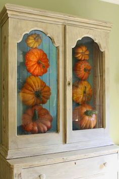 Decorating for Fall with Faux Pumpkins from Miss Kopy Kat