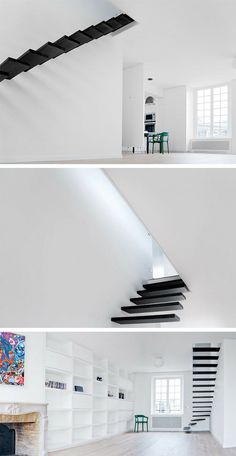 O estúdio de arquitetura francês Ecole criou uma escada minimalista em uma das recentes casas que desenvolveram.