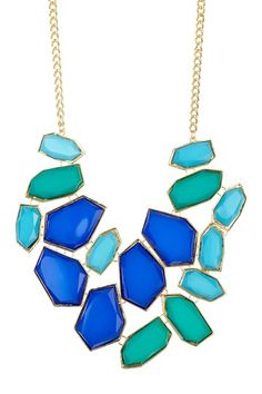 Tricolor Statement Necklace