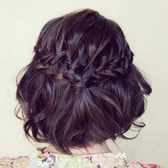 Ladder braid in short hair