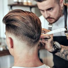 Barbershop Hairstyles - Low Taper Fade with Long Textured Top