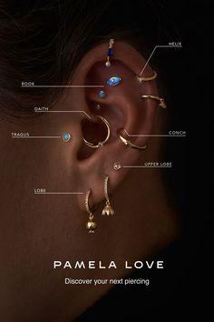 Ear Jewelry, Cute Jewelry, Body Jewelry, Jewelery, Jewelry Accessories, Piercing Shop, Body Piercing, Ear Piercing Guide, Piercing Ideas