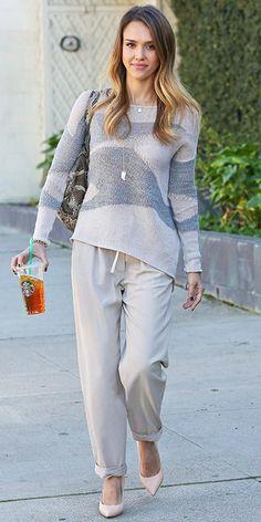 shop Jessica Alba's neutral look!