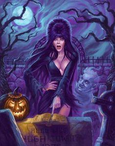 Elvira by on DeviantArt Cassandra Peterson, Elvira Movies, Dc Comics, Gothic Fantasy Art, Beautiful Dark Art, Horror Artwork, Estilo Rock, Dark Pictures, Scary Art