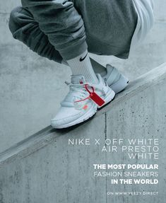 Nike x Off White Air Presto WHITE sneakers on feet buy on yeezy. Nike Air Presto White, Off White Presto, Off White Shoes, White Sneakers, Adidas Sneakers, Adidas Nmd, Discount Shoes Online, Exclusive Sneakers, New York Fashion