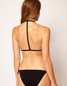 Imagen 1 de Top de bikini con copas de triángulo moldeadas y espalda en T Mix and Match de ASOS