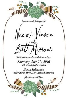 Loving these Bohemian Floral Wedding Invitations!