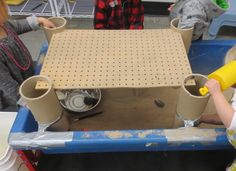 SAND AND WATER TABLES: PEGBOARD PLATFORM