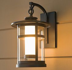 exterior light, oiled bronze finish