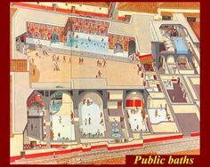 the public baths romeinse kunst