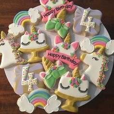 Excited to use some new cookie cutters for this set for a little girl that loves unicorns! Hope she has a magical birthday! @bugsyroberts thanks for ordering! #customcookies #utahcustomcookies #royalicingcookies #yummy #unicorncookies #birthdaygirl #birthdaycookies #magical