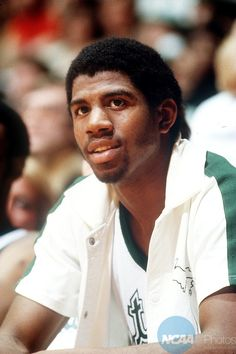 """Michigan State's Earvin """"Magic"""" Johnson was named Most Outstanding Player during the 1979 tournament with 17 rebounds and 53 points. Michigan State defeated Indiana State 75-64 to win the title. #MarchMadness"""