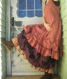 Short Ruffle Slip Dress van sarahclemensclothing op Etsy, $149.00  I..like this.  So. Ruffly....