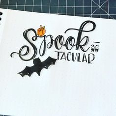 Eek- I can't believe how quickly this month is going by... and Halloween is that much closer! With challenges like the #octoberfestlettering challenge by my #calligragriends @tjt.design @chrystalizabeth and @tiffyinspirations - I hope yours is Spook-tacular! 🎃👻🕷 . . . #type #brushtype #penandink #handfont #moderncalligraphy #calligraphy #brushcalligraphy #handwriting #brushlettering #brushlettered #brushletter #letter #handlettered #typography #handlettering #lettering #handtype…
