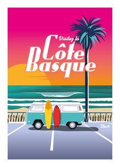 © Marcel Côte Basque VAN SUNSET www.marcel-biarritz.com