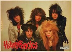 Hanoi Rocks-poster from the 80's