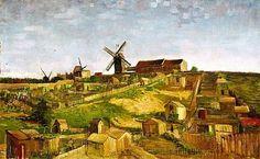 The hill of Montmartre - Vincent van Gogh (1853 - 1890)