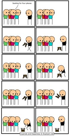 Cyanide and Happiness, a daily webcomic Really Funny Memes, Funny Relatable Memes, Stupid Funny, Funny Cute, The Funny, Funny Jokes, Hilarious, Life Memes, Dankest Memes