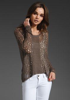 Crochet Stitch Sweater in Twine. wow lovely. #crochettop #jersey #crochet
