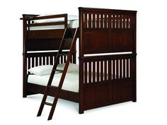 Shop for Smartstuff by Universal Full Bunk Bed, 1341540, and other Youth Bedroom Beds at Woodley's Furniture in Colorado Springs, Fort Collins, Longmont, Lakewood, Centennial, Northglenn. Even the most active boy is no match for the vigor of this strapping collection in cherry veneers with a Rustic Cherry finish. RoughHouse features substantial tops and posts, softened edges, exaggerated bun feet and sturdy antique bronze bale pulls.