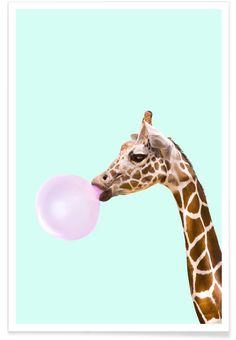 Giraffe als Premium poster door Paul Fuentes   JUNIQE shop