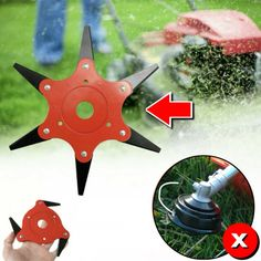 Lawn Trimmer Head with 6 Leaf-knives – zonesly Garden Projects, Garden Tools, Projects To Try, Garden Crafts, Garden Ideas, Diy Home Repair, Gas And Electric, Lawn And Garden, Lawn Mower