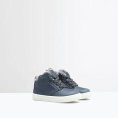 ZARA - KIDS - Lined hi-top sneaker