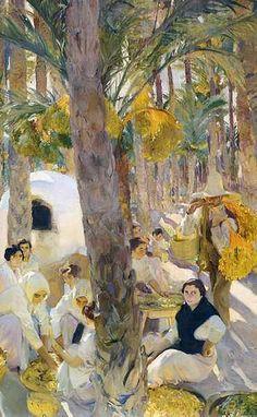 Elche: El palmeral, 1918-1919. Joaquín Sorolla y Bastida.