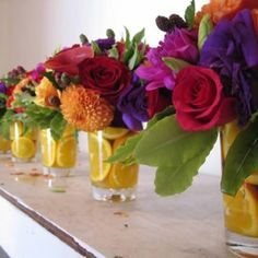 E- Party Bright and colorful centerpieces for your reception or shower.
