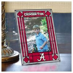 Alabama Crimson Tide Bama Picture Frame Vertical Art Glass Frame