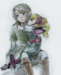 Link + Aghita (Machaon)  OK THIS IS CUTE ON A WHOLE NEW LEVELS