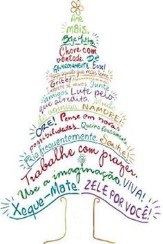 Arvore de Natal Com Mensagem