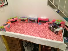 The kids made Valentine monster boxes to hold all their valentines!