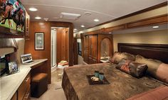The Dynamax Trilogy offers amazing comfort and luxury in a fifth wheel travel trailer.