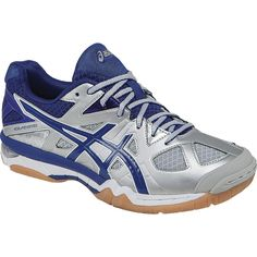 Check out the Asics Women's Gel-Tactic Shoes! All Volleyball, Volleyball Players, Gel Cushion, Asics Women, Silver Shoes, Running, Sneakers, Leather, Sport