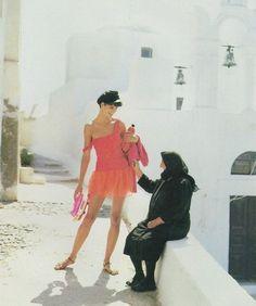 Greek Yiayia with Linda-Chance & Apartment 34 Inspiration : Greece (Linda Evangelista in US Vogue, 1988)