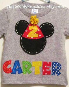 Mickey Mouse Shirt Birthday Boy T 1st Cake Smash Tee