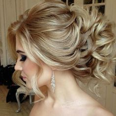 This is such a romantic look! #Bridal #Updo