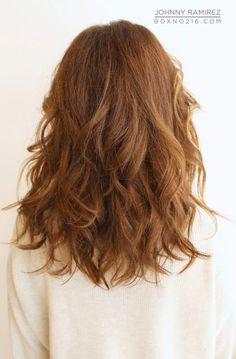 Long hair with light curls