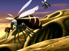 """Buzzard Wasp Beginner's Guide To The Outrageous Animals Of """"Avatar: The Last Airbender"""" Avatar Legend Of Aang, Team Avatar, Avatar Aang, Legend Of Korra, Avatar The Last Airbender, Avatar Animals, Anime Animals, Scavenger Birds, Avatar World"""