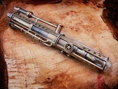 Steampunk Fountain Pen handmade in brass and copper por WolfPens