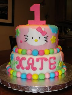 hello kitty birthday cake - Google Search