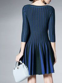 Paneled Cotton-blend Mini Dress. Style we.com